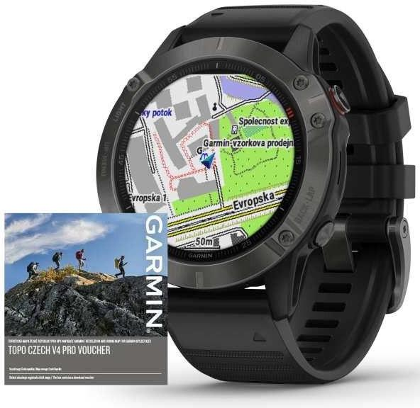Watch Garmin Garmin fenix6 PRO Sapphire Gray/Black Band (MAP/Music)