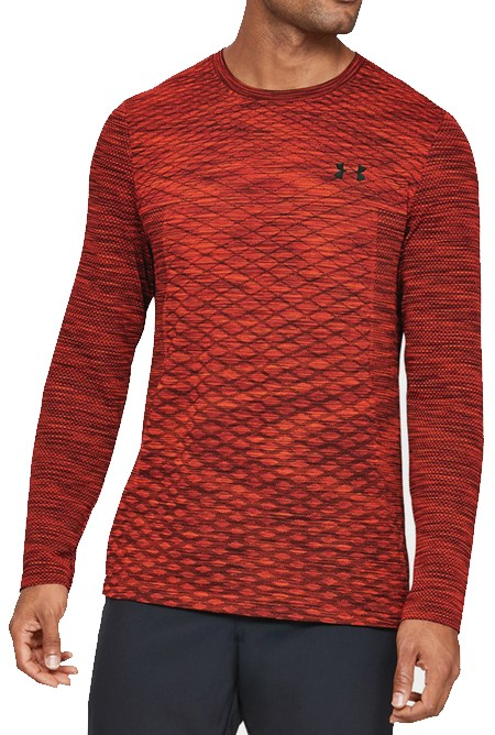 Long-sleeve T-shirt Under Armour Vanish Seamless LS Novelty-RED