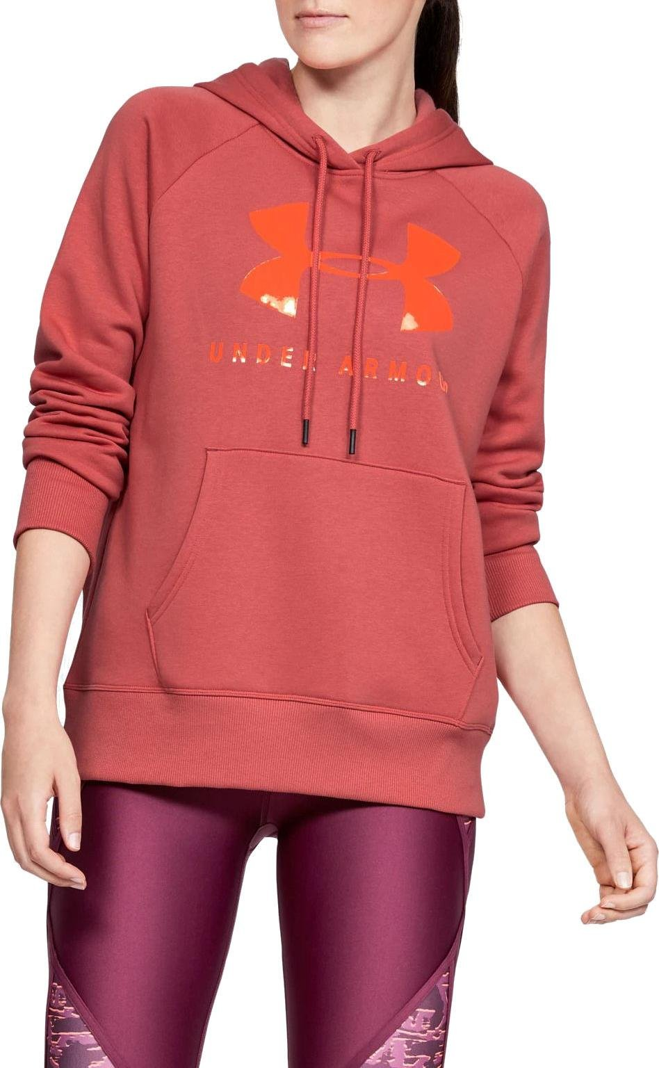 Hooded sweatshirt Under Armour RIVAL FLEECE SPORTSTYLE GRAPHIC HOODIE